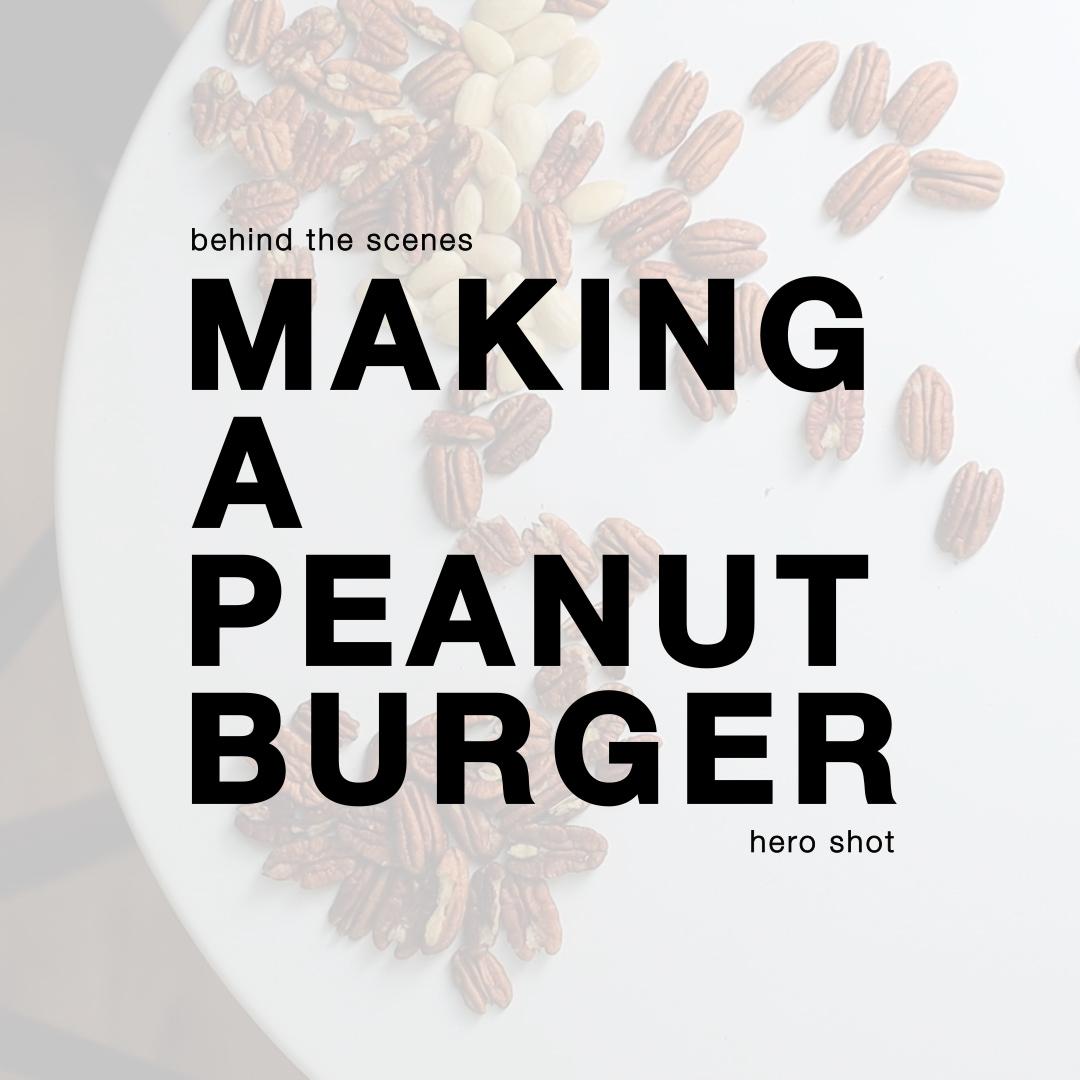 making a peanut burger krystian krzewinski